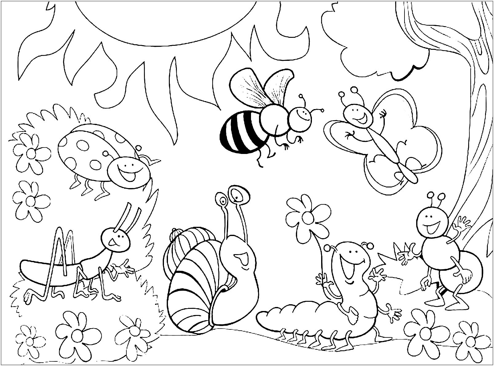 insects coloring sheets insects for children insects kids coloring pages insects coloring sheets