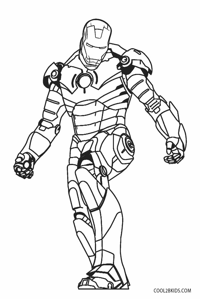 Iron man colouring pages to print