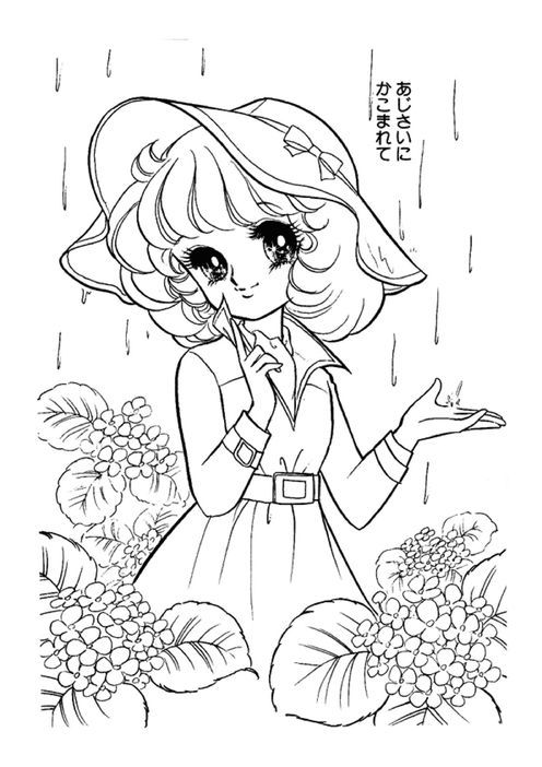 japanese anime girl coloring pages 28 best images about color and draw on pinterest anime japanese girl coloring pages