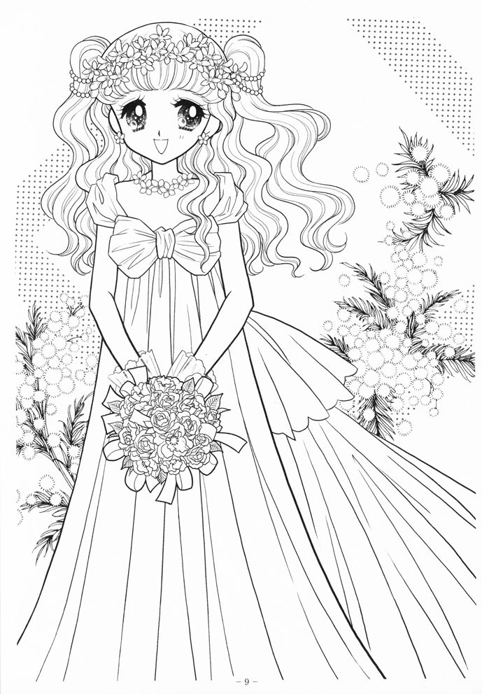 japanese anime girl coloring pages 89 best japanese anime coloring page ぬり絵 images on japanese coloring girl pages anime