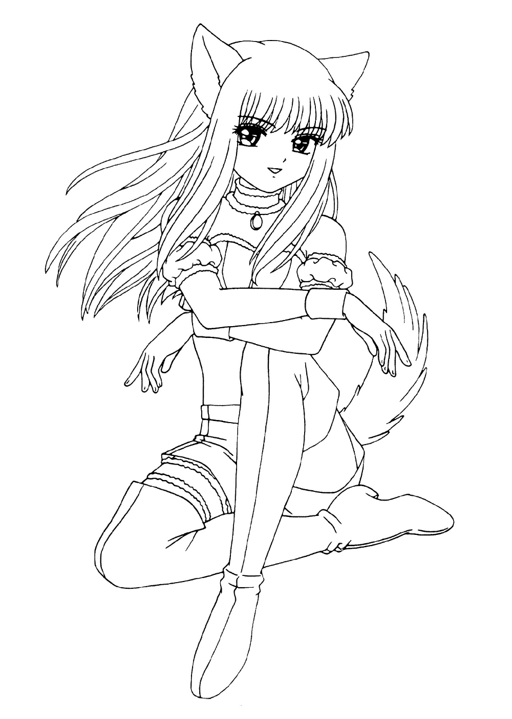japanese anime girl coloring pages japanese anime coloring sheets coloring pages girl japanese pages anime coloring
