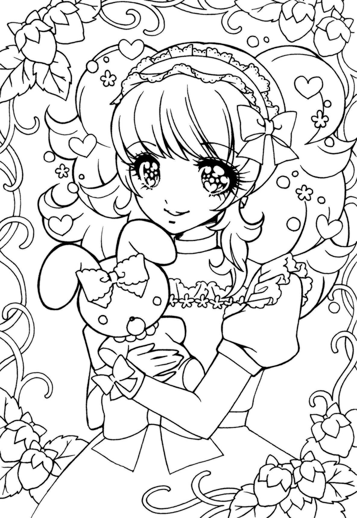 japanese anime girl coloring pages kids draw of japanese girl in anime coloring page pages girl coloring anime japanese