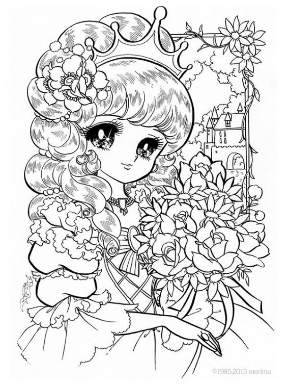 japanese anime girl coloring pages princess world 26jpg photo by khateerah photobucket japanese coloring girl anime pages