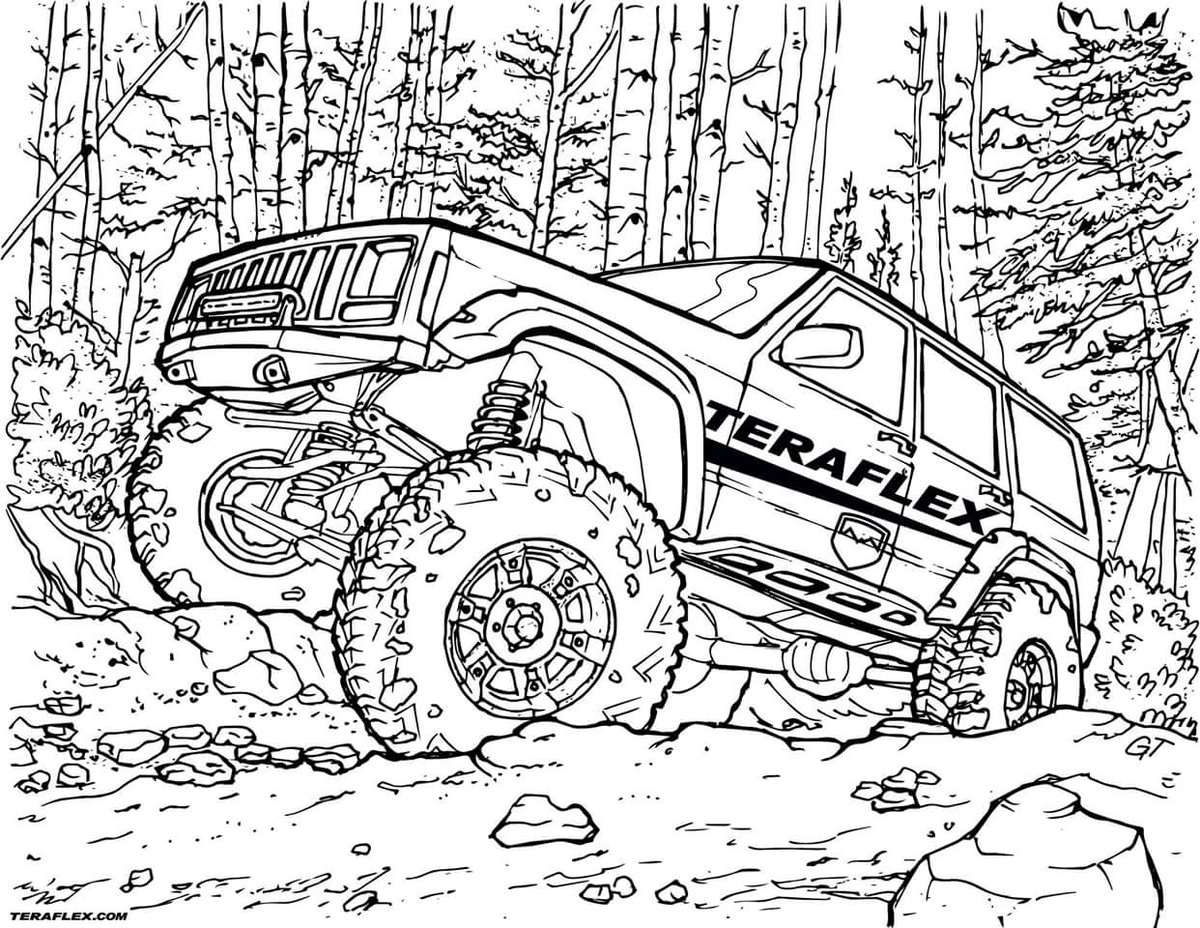 jeep coloring pages jeep coloring pages to download and print for free coloring jeep pages