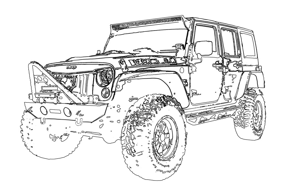 jeep coloring pages jeep grand cherokee coloring page free printable jeep coloring pages