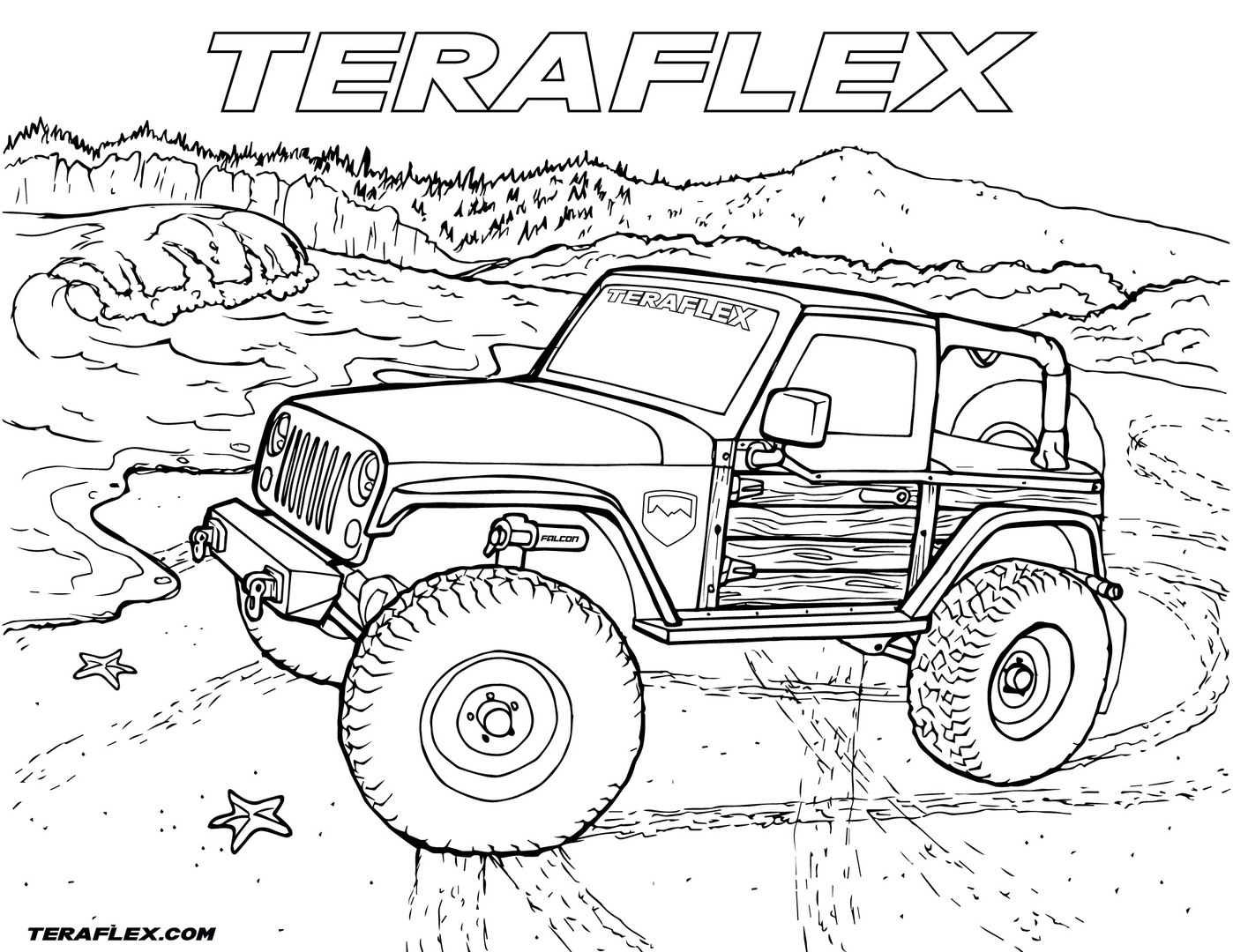 jeep coloring pages safari jeep drawing at getdrawings free download coloring jeep pages