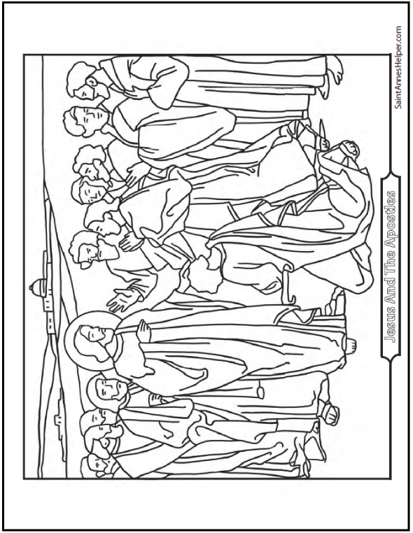 jesus and the 12 disciples coloring page 24 printable coloring pages of the 12 disciples in 2020 12 page and disciples coloring the jesus