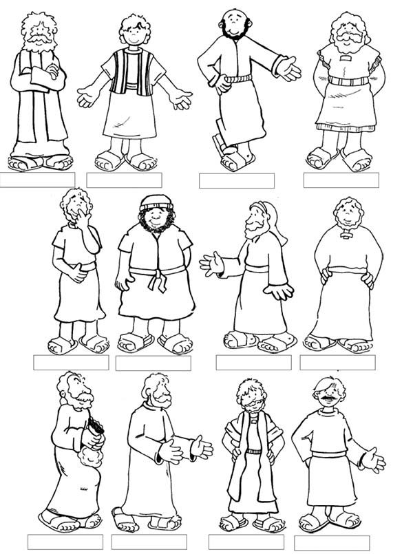 jesus and the 12 disciples coloring page apostles coloring pages httpwwwbible printablescom coloring page and 12 disciples jesus the