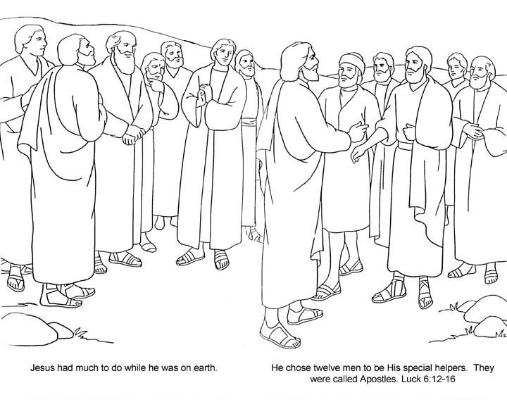 jesus and the 12 disciples coloring page jesus 12 disciples coloring page sketch coloring page disciples page and coloring the 12 jesus