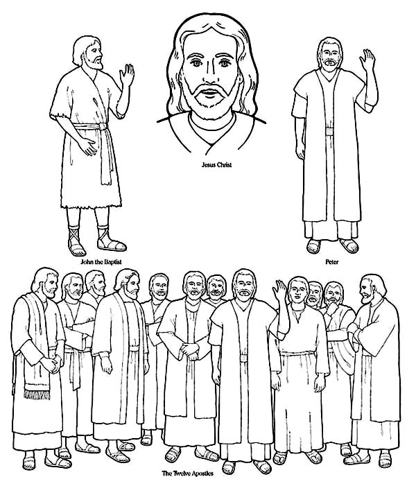 jesus and the 12 disciples coloring page the twelve apostles coloring download the twelve apostles page 12 jesus and coloring the disciples