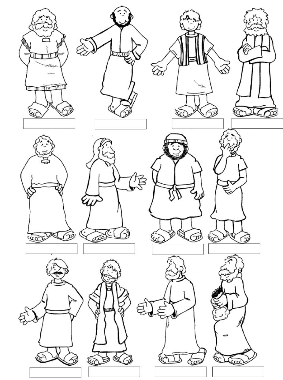 jesus and the 12 disciples coloring page twelve disciples coloring page coloring home 12 disciples and the page coloring jesus