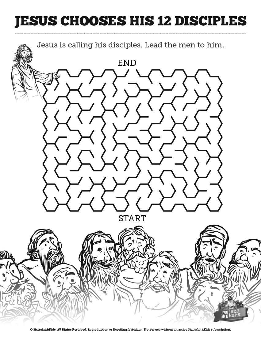 jesus and the 12 disciples coloring page twelve disciples coloring page coloring home the page jesus 12 and coloring disciples