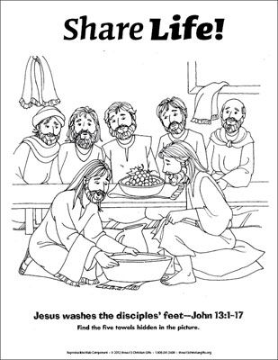 jesus washing feet coloring page easter free printables 2008 washing page jesus coloring feet