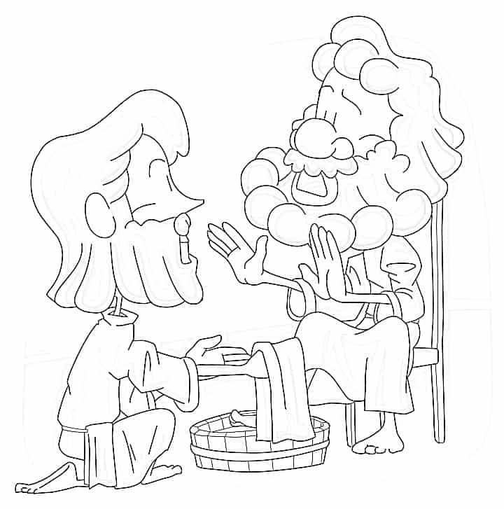 jesus washing feet coloring page jesus washes feet coloring page coloring home coloring page jesus washing feet