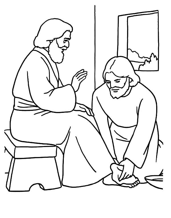 jesus washing feet coloring page jesus washes his disciples feet coloring page toddler washing page feet jesus coloring
