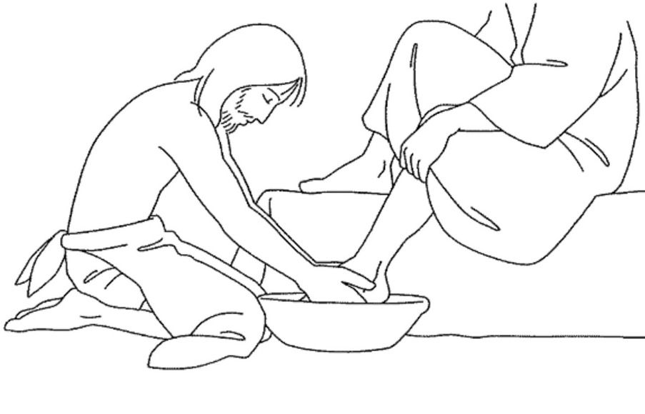 jesus washing feet coloring page jesus washes the disciples feet coloring page ministry feet washing jesus coloring page
