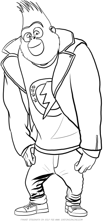 johnny sing johnny gorilla of sing coloring pages sing johnny