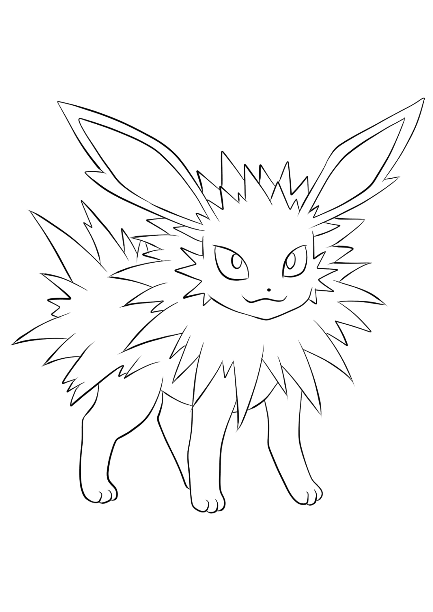 Jolteon coloring pages