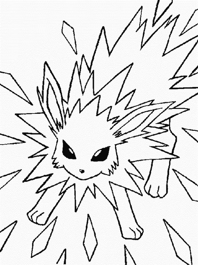 jolteon coloring pages jolteon coloring pages coloring jolteon pages