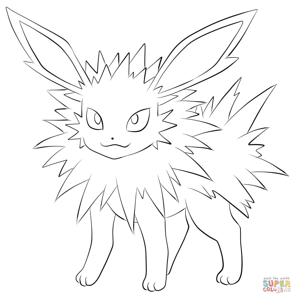 jolteon coloring pages jolteon colouring pages sketch coloring page coloring pages jolteon