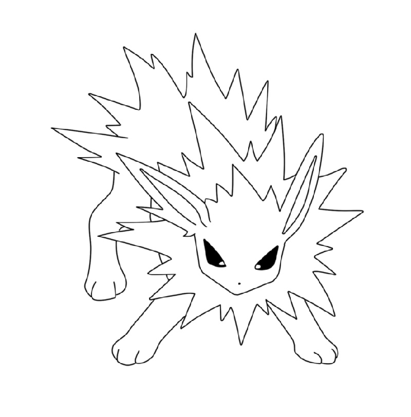 jolteon coloring pages picture of jolteon coloring page kids play color pages jolteon coloring