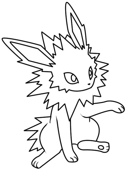jolteon coloring pages the best free jolteon coloring page images download from jolteon pages coloring