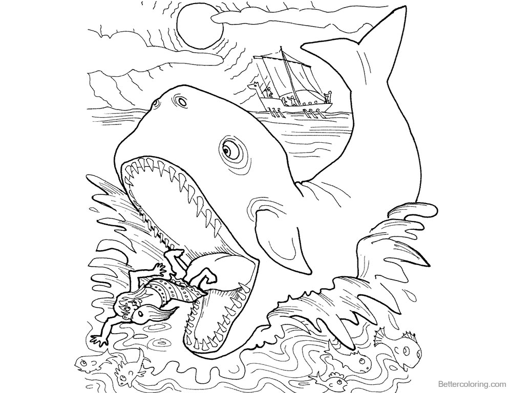 jonah and the whale colouring excellent picture of jonah and the whale coloring pages whale colouring jonah the and
