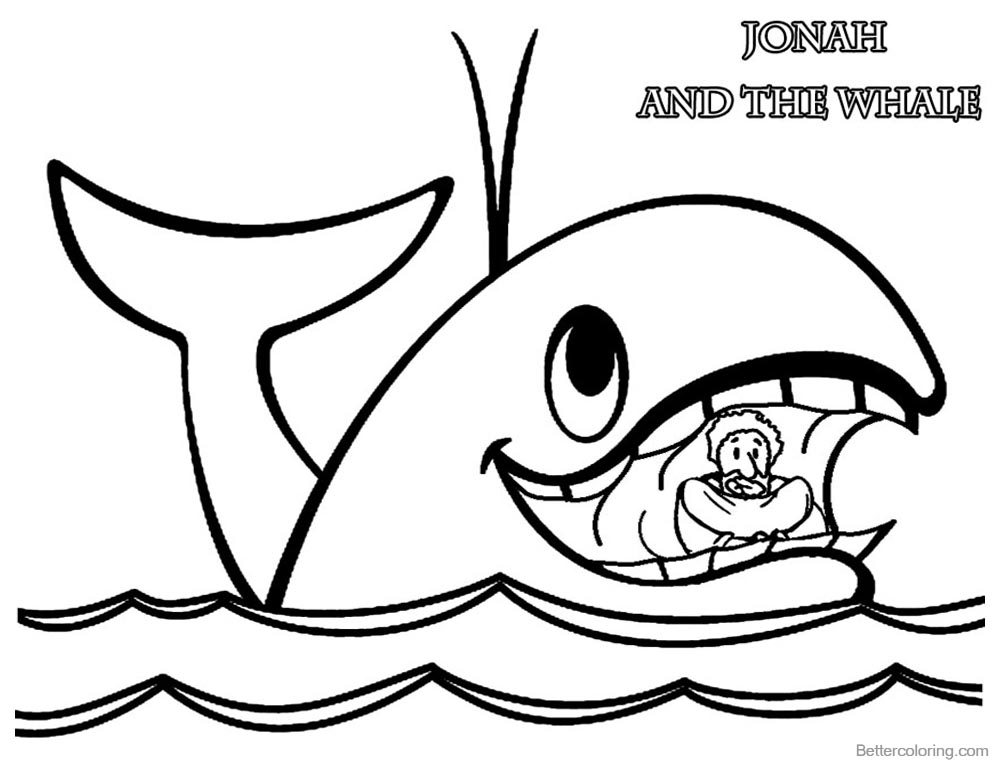 jonah and the whale colouring jonah and the big fish coloring page coloring home jonah the colouring whale and