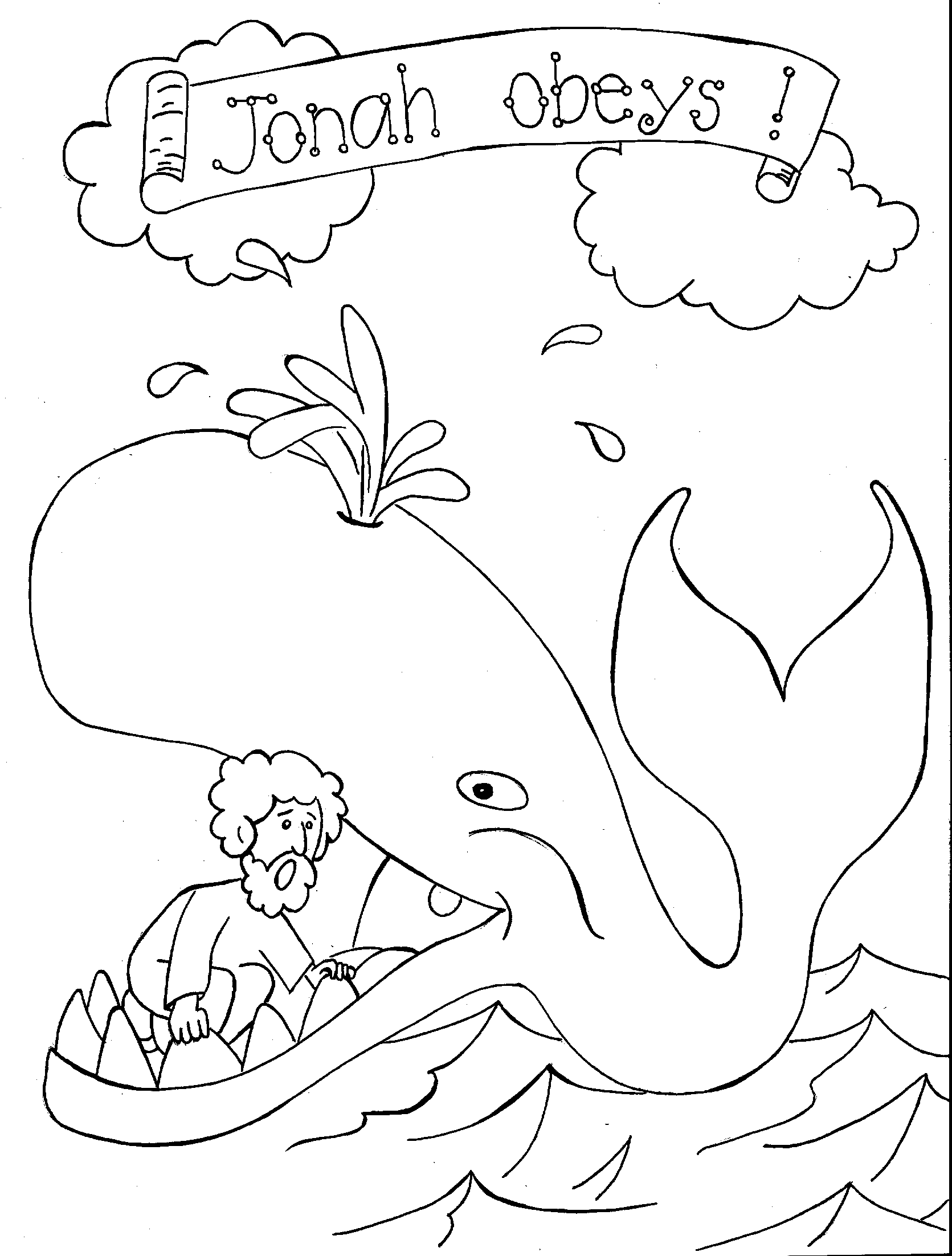 jonah and the whale colouring jonah and the whale coloring page coloring pages for kids and whale jonah colouring the