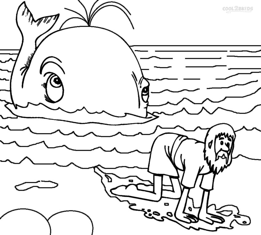 jonah coloring page jonah and the giant whale coloring pages printable page coloring jonah