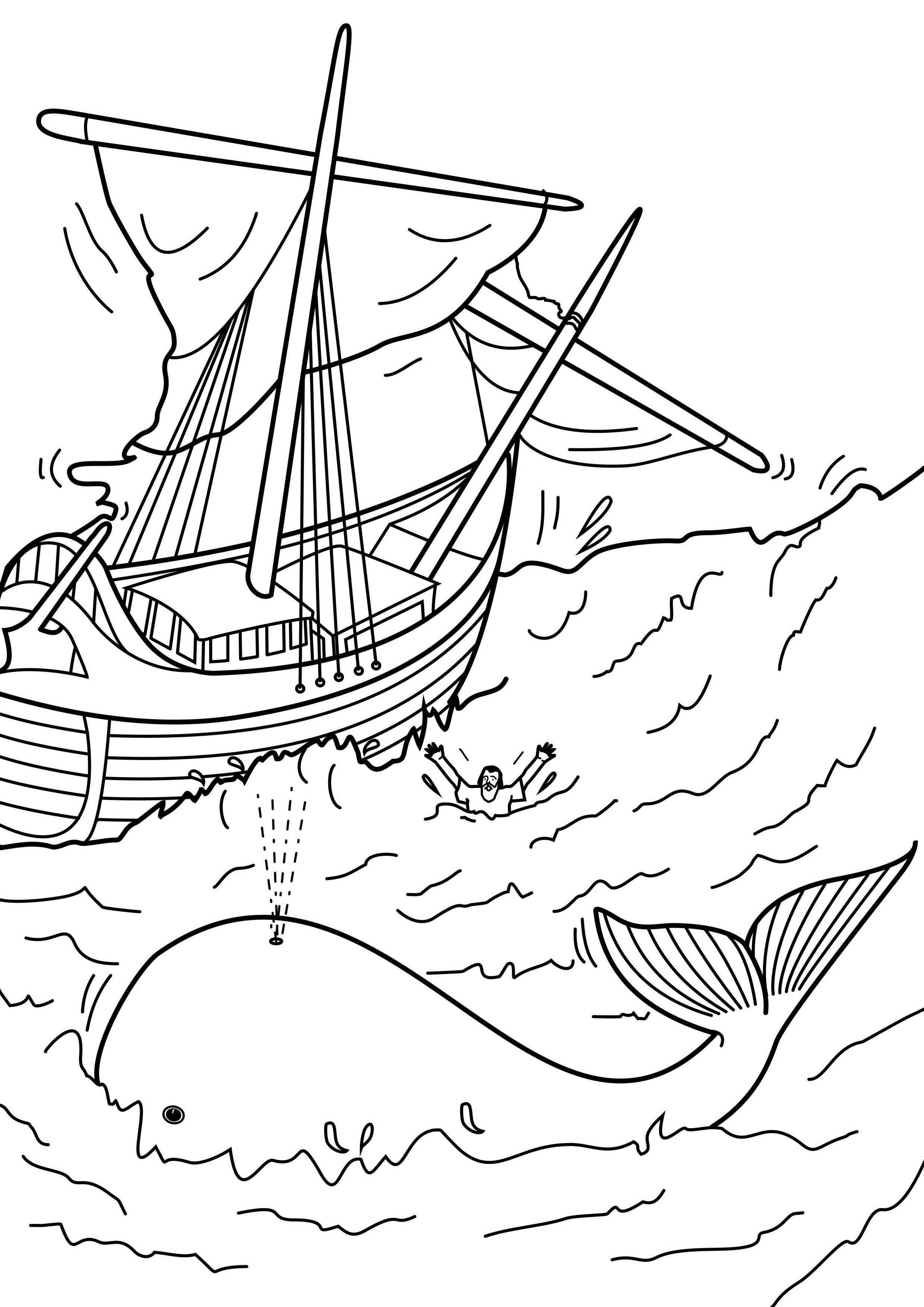 jonah coloring page jonah was in the belly of the fish three days and three coloring jonah page