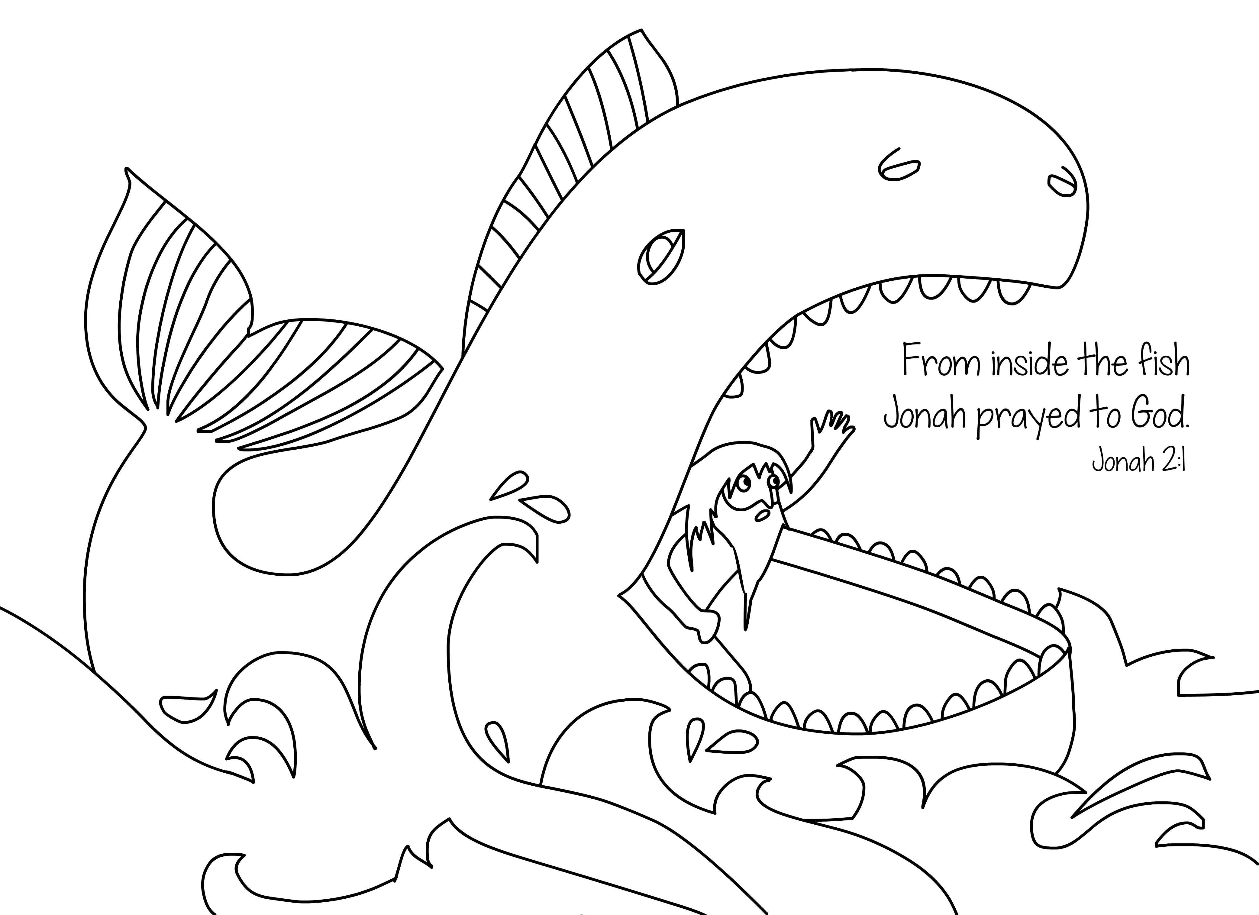 jonah the whale coloring pages jonah coloring pages and activities coloring pages whale pages jonah coloring the