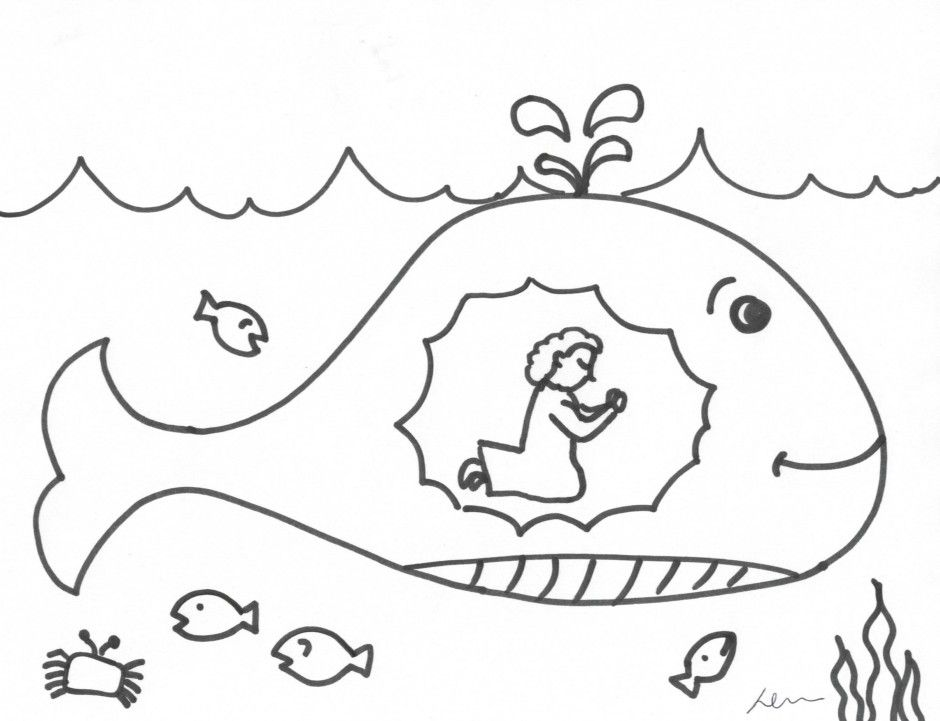 jonah the whale coloring pages printable jonah and the whale coloring pages for kids pages jonah coloring the whale