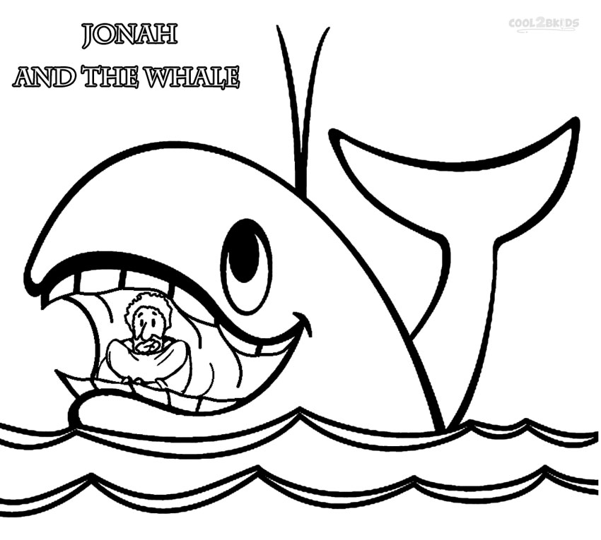 Jonah & the whale coloring pages