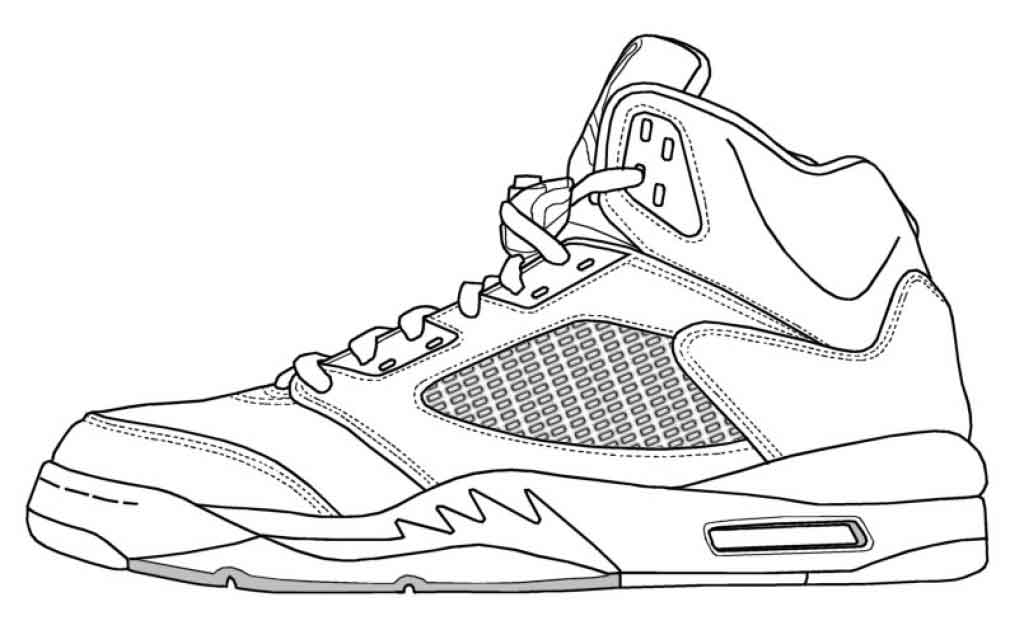 jordan coloring pages shoe drawing template at getdrawings free download pages jordan coloring