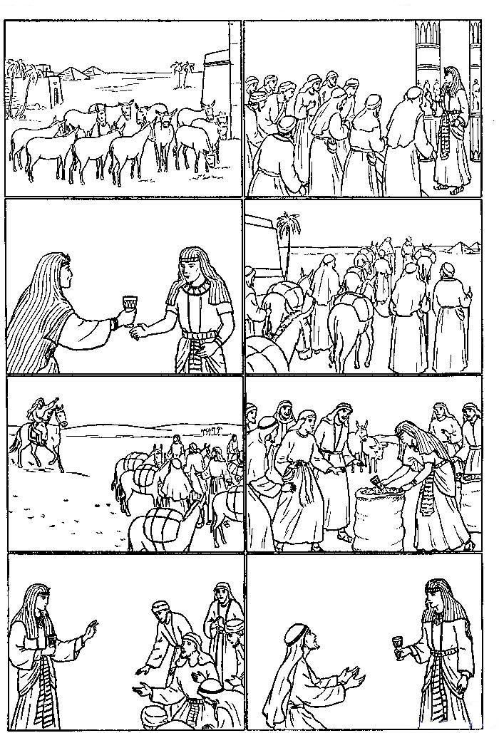 joseph shares food coloring pages alisya coloring pages joseph and his brothers in egypt food pages joseph shares coloring