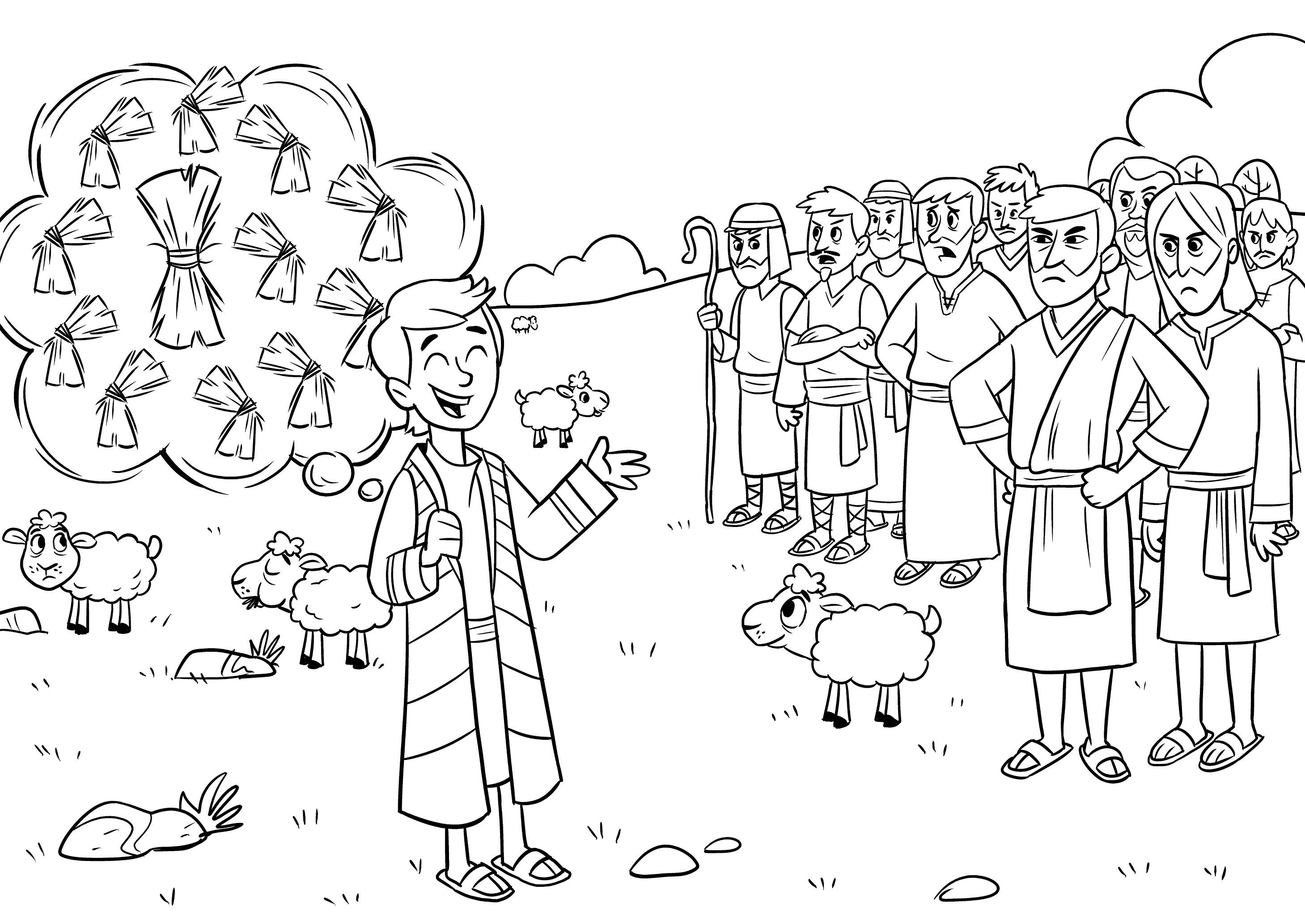 Joseph the dreamer coloring pages