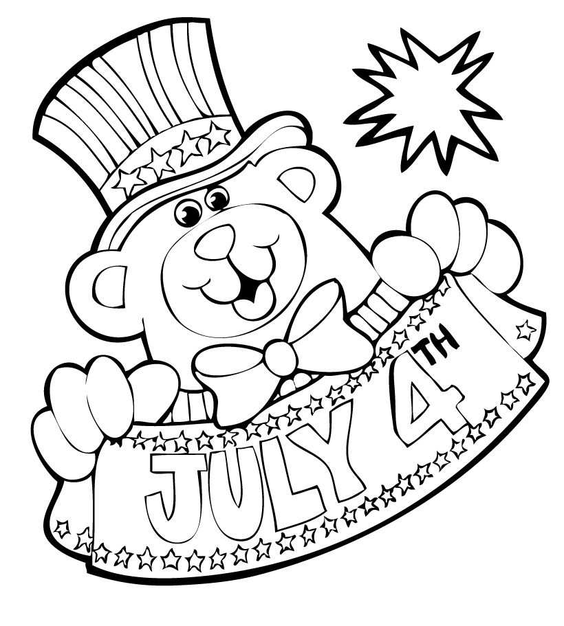 july 4 coloring pages free 4th of july coloring pages tuxedo cats and coffee 4 july pages coloring