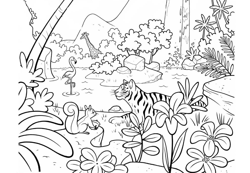 jungle coloring page 8 jungle coloring pages pdf png free premium templates page jungle coloring