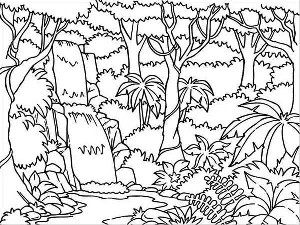 jungle coloring page jungle coloring pages coloring pages to download and print page jungle coloring