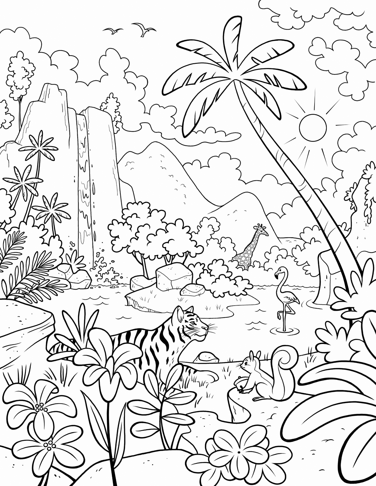 jungle coloring page jungle coloring pages to download and print for free coloring jungle page