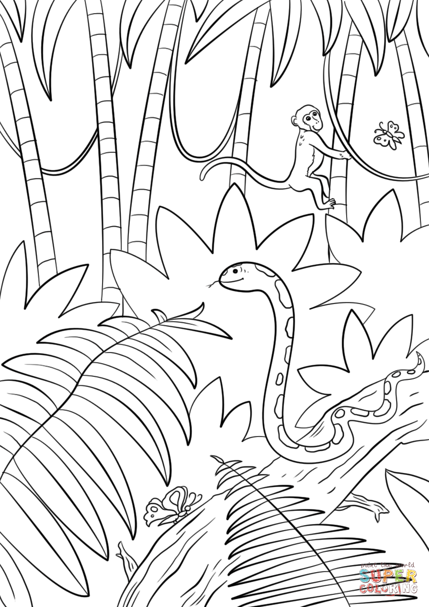 jungle coloring page jungle coloring pages to download and print for free page jungle coloring
