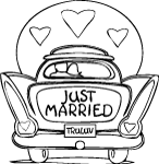 just married wedding coloring pages just married coloring page buscar con google with wedding coloring pages married just