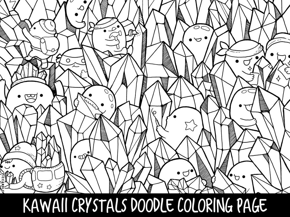 kawaii coloring clouds doodle coloring page printable cutekawaii coloring kawaii coloring