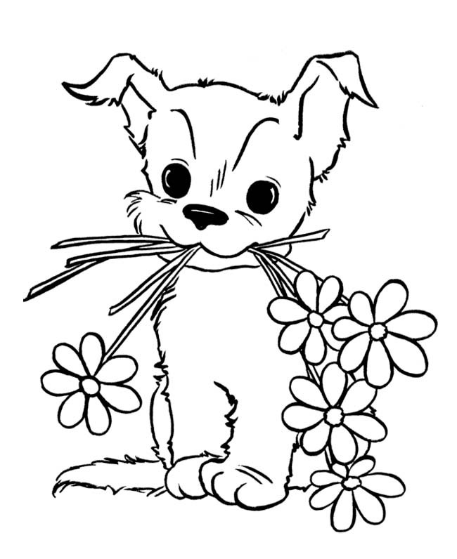 kawaii dog coloring pages cute puppy coloring pages for kids free printable coloring pages dog kawaii