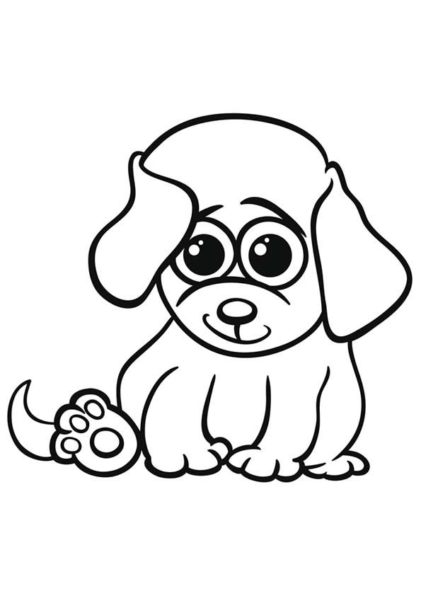 kawaii puppy coloring pages animals coloring pages cute puppy playing kids coloring kawaii pages puppy