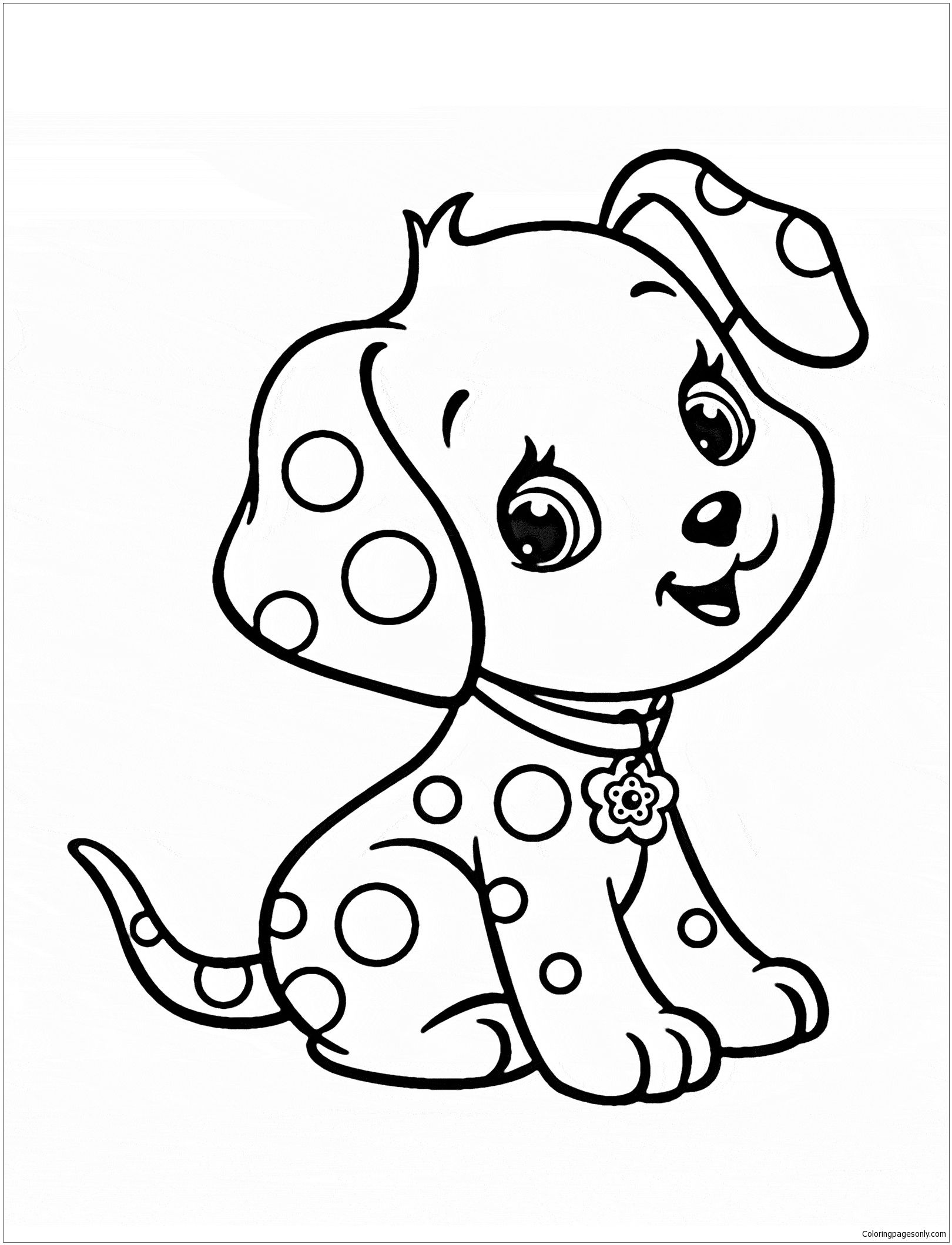 Kawaii puppy coloring pages
