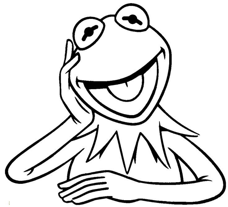 kermit coloring page colouring pages of kermit clipart best page coloring kermit