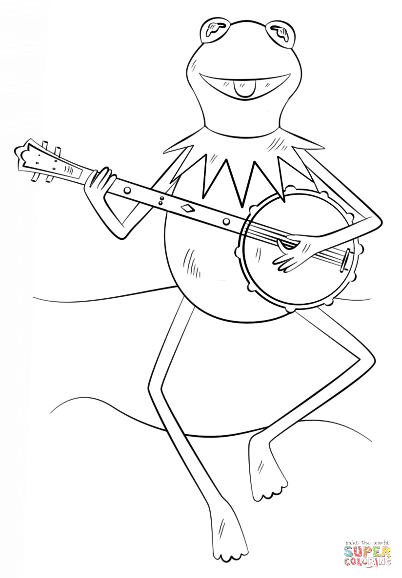 kermit coloring page the muppets kermit the frog coloring page page kermit coloring