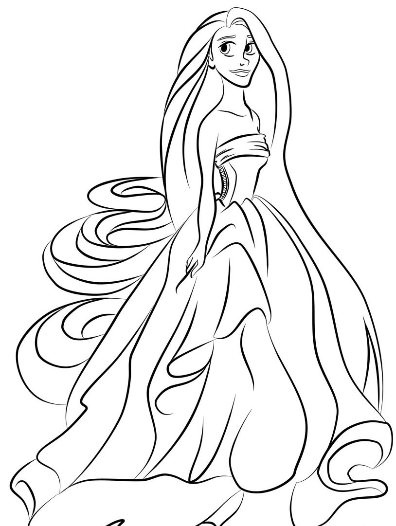 kids princess coloring pages princess outline drawing at getdrawings free download pages coloring princess kids